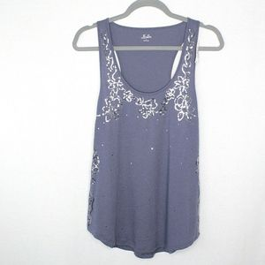 NEW Madewell Hi-Line Silver Sequin Tank Top